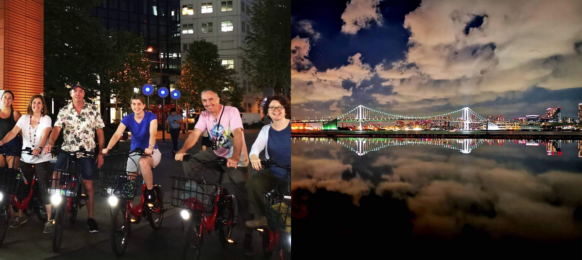Tokyo at Night with E-Bike to Harumi Wharf